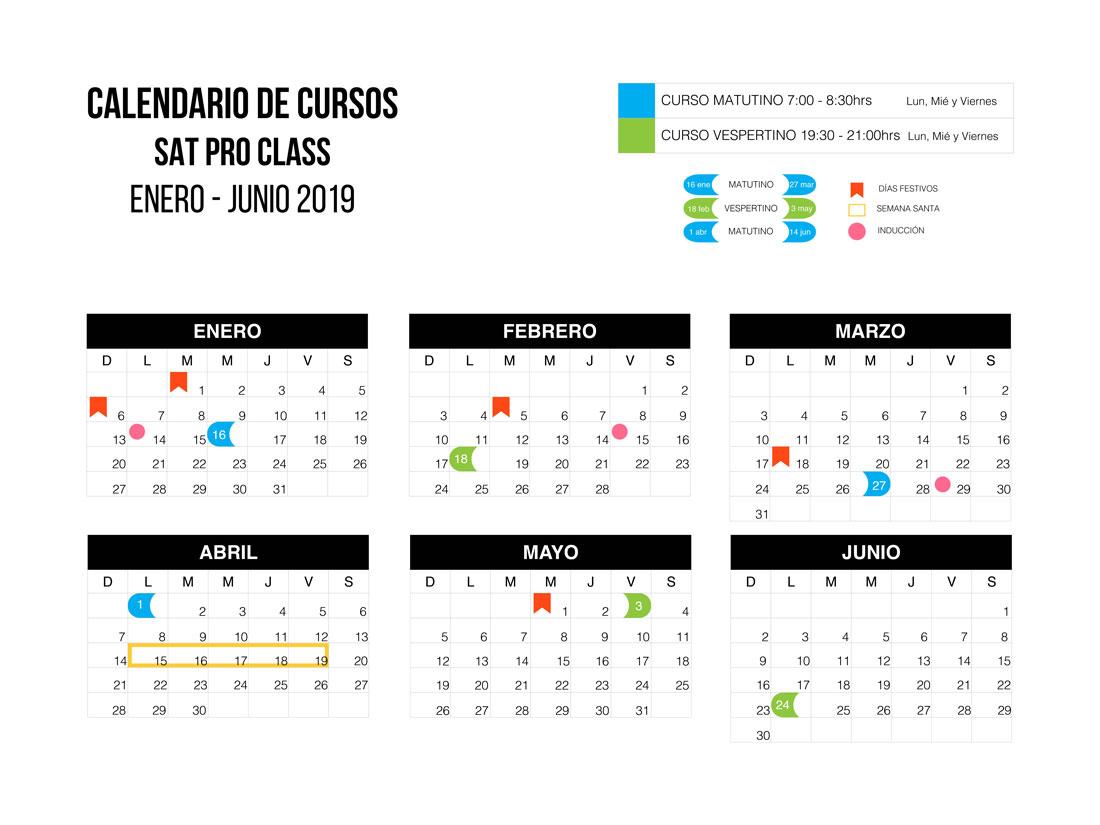 Calendario SAT PRO Class