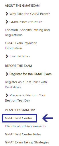 busca centro aplicacion GMAT Mexico